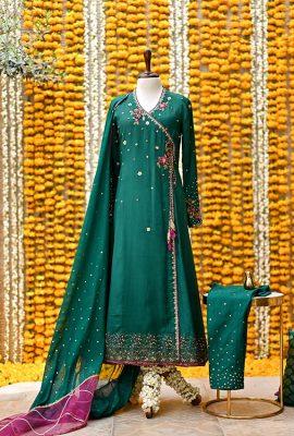 Green-angrakha-Ghazal-image